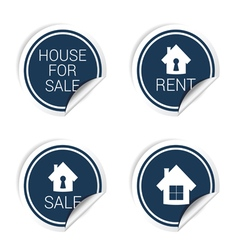 Sticker of house for sale and rent vector
