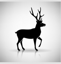 stylized silhouette of a deer vector image