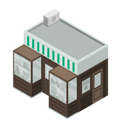 sweet fruit street shop icon isometric style vector image