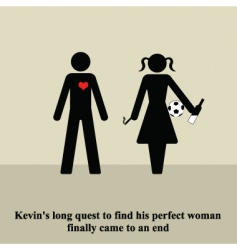 the perfect woman vector image