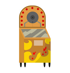 Vintage music object retro jukebox color symbol vector