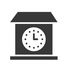 wall clock solid icon design pixel perfect vector image