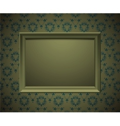Wall with picture frame vector image