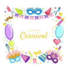 welcome to carnival banner template celebration vector image