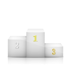 White Olympic Pedestal With Numbers vector