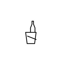 wine bucket icon vector image