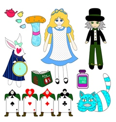 Alice in Wonderland Color vector image