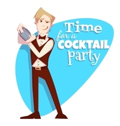 barman for cocktail party vector image