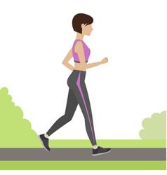 jogging girl vector image