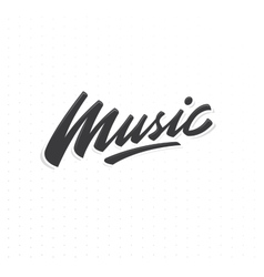 Music lettering print vector