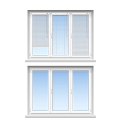 Plastic Windows Jalousies 2 Realistic Icons vector image vector image