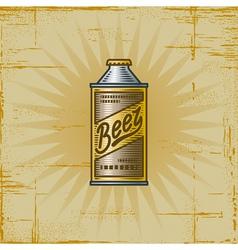 Retro Beer Can vector image vector image