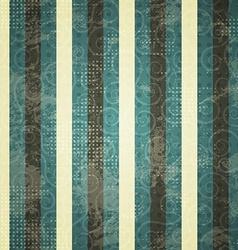 vintage blue line seamess pattern vector image