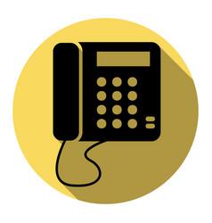 communication or phone sign flat black vector image