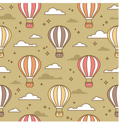 cute seamless pattern with colorful air balloons vector image vector image