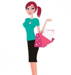 girlk shopping vector image vector image