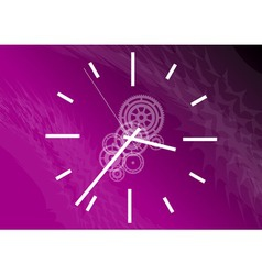 purple clock vector image vector image