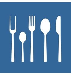 Set of cutlery vector image