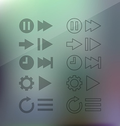 Thin line icons for web and mobile vector image