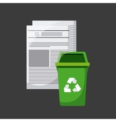 trash and recycle design vector image
