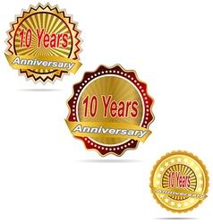 Label decoration ceremony anniversary sign symbol vector image