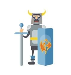 Mitovich knight in armor vector image vector image
