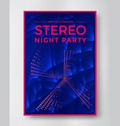 night party electro sound vector image vector image