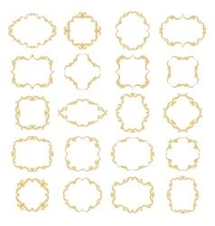 Set collection of ornamental vintage frames vector image vector image