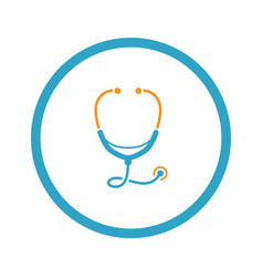 stethoscope and medical services icon flat design vector image