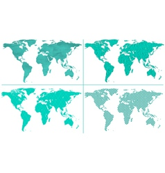 Abstract world maps vector