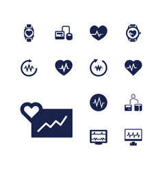 13 pulse icons vector