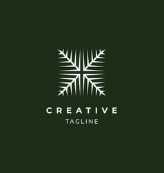 abstract square logo design vector image