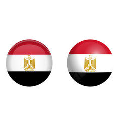 arab republic of egypt flag under 3d dome button vector image