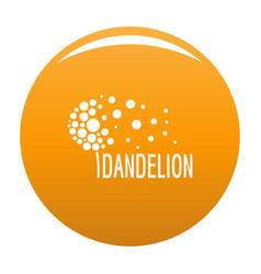 Beautiful dandelion logo icon orange vector