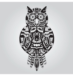 Beautiful ornamental owl graphic vector image