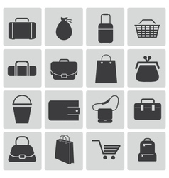 black bagicons set vector image