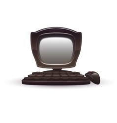 black computer vector image
