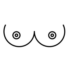 breast woman icon outline style vector image