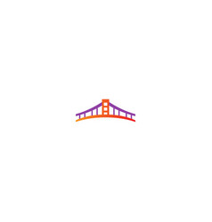 bridge building company logo vector image