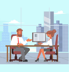 business male and female vector image