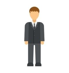 Business man icon silhouette office people vector image