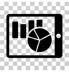Charts On PDA Icon vector