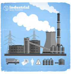 Chemical factory template vector