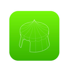 circus tent icon green vector image