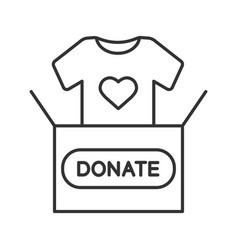 clothes donating linear icon vector image