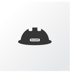 Construction helmet icon symbol premium quality vector