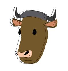 Cow head animal farm agriculture fauna vector