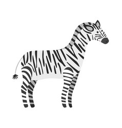 Cute cartoon black and white smiling zebra vector