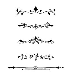 decorative floral border ornamental text divider vector image