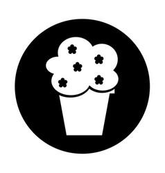 Decorative garden pot isolated icon vector
